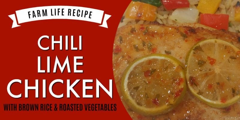 Chili Lime Chicken with Brown Rice & Roasted Vegetables Recipe